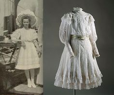 "Grand Duchess Olga Nikolaevna Romanova of Russia and her dress. ""AL"""