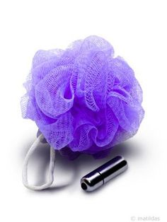 Sex In the Shower | Vibrating Mesh Sponge from Matildas.co.za. #purple #sextoys #sexy #adult