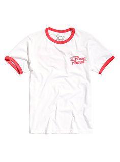 Disney Toy Story Pizza Planet Ringer T-ShirtDisney Toy Story Pizza Planet Ringer T-Shirt, WHITE