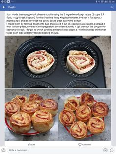 Pizza scrolls Mini Pie Recipes, Waffle Maker Recipes, Cooking Recipes, Savoury Finger Food, Savory Snacks, Sunbeam Pie Maker, Puff And Pie, Cake Pop Maker, Mini Pies