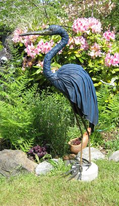 heron fabric sculpture