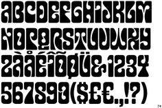 typeface inspired by the psychedelic poster lettering of 1960s by California artist Wes Wilson.