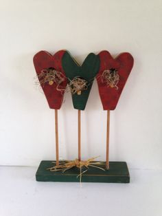 Red Apple Bird House Wooden Decor  Country by EightBoardsFarm, $12.00