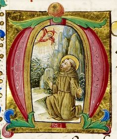 Pretty medieval manuscript of the day shows St Francis of Assisi receiving his stigmata. It seemed a good choice as the new pope chose the name Francis after this very saint.  Image source: British Library MS Harley 3229. Image declared as public domain on the British Library website.