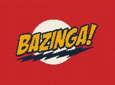 $5 - BAZINGA! Big Bang Theory -  Crochet Afghan Blanket Pattern Graphghan - BBT by AngelicCrochetDesign on Etsy