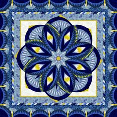 Check out this original color-way designed by Susan . Sign up on www.quiltster.com to create your own. Amish Quilts, Star Quilts, Quilting Projects, Quilting Designs, Quilt Modernen, Medallion Quilt, Star Quilt Patterns, Contemporary Quilts, Blue Quilts