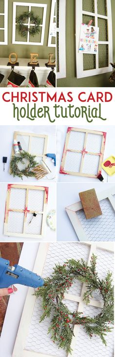Christmas Card Holder Tutorial by MichaelsMakers Lindi Haws of Love The Day