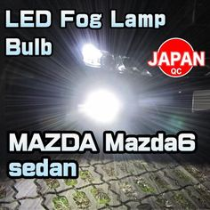 LED Fog Lamp Bulb 2 Pieces For MAZDA Mazda6 sedan 2014-up