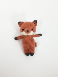 Little Crocheted Fox Crochet Fox Crochet Woodland by MossyMaze