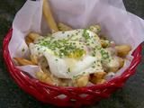 Cheesy Fries with Ham and Egg Recipe : Anne Burrell : Recipes : Food Network
