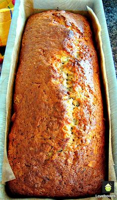 Moist Caramel Banana Bread. Add nuts like I did or leave them out. Either way it's delicious!  #cake #banana #caramel #baking