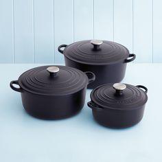 Le Creuset 20cm casserole in satin black