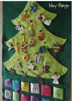 Hand Sewn Jesse Tree DIY KIT  Ready to Ship  Biblical door NavyMango, $52.00