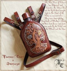 Leather flask by I-TAVARON-I.deviantart.com on @deviantART