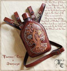 Leather flask by I-TAVARON-I.deviantart.com on @deviantART