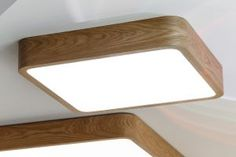Square wood lamp with Samsung's LED's inside. Ceiling or suspended mounting. Ceiling Lamp, Ceiling Lights, Wooden Ceilings, Wooden Lamp, Led Technology, Made Of Wood, Color Shades, Wooden Frames, Architecture Design