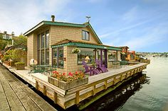 The Sleepless in Seattle houseboat from a recent real estate listing.