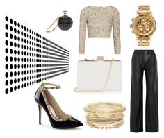 Gold & Black ♥ by mlss on Polyvore featuring Alice + Olivia, ADAM, Oasis and Nixon