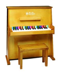 Schoenhut 37 Key Day Care Durable Upright Piano - Oak 3798O