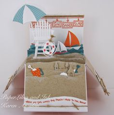 IMPRESSION OBSESSION-SUN, SAND AND SURF! I would like to use some of Karen Burniston dies to make this.