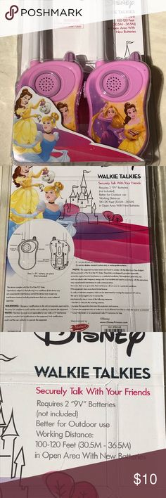 Disney princesses set of walkie-talkie New Other