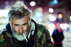 Homeless man smoking a cigarette Valparaiso Indiana, Homeless Man, Homeless People, Man Smoking, Bearded Men, Best Funny Pictures, 30, Jon Snow, Candid