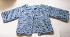 Trendy easy crochet baby sweater pattern free ravelry: crocheted baby sweater pattern by beth koskie PKATRSC Crochet Baby Cardigan Free Pattern, Crochet Baby Jacket, Crochet Baby Sweaters, Gilet Crochet, Baby Sweater Patterns, Crochet Baby Clothes, Baby Patterns, Baby Knitting, Free Crochet