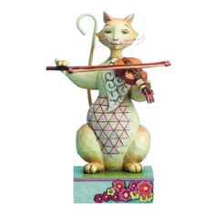 Enesco Jim Shore Heartwood Creek Cat with Fiddle Figurine, 6.25-Inch Enesco,http://www.amazon.com/dp/B009AB1GNK/ref=cm_sw_r_pi_dp_uW-utb1DVXGAKX5P