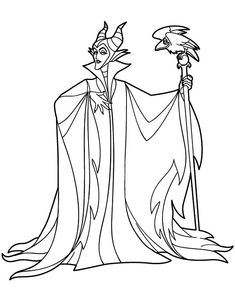 Sleeping Beauty Coloring Pages Maleficent Coloring Page