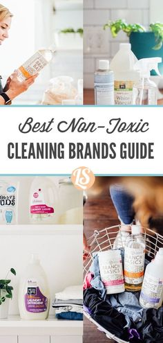 The best non-toxic cleaning products and brands. Cleaning Recipes, House Cleaning Tips, Cleaning Hacks, Eco Friendly Cleaning Products, Natural Cleaning Products, Homemade Scrub, Plant Therapy, Natural Cleaners, Natural Living