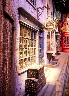 Wiseacres Wizarding Equipment.  From the sets of the Harry Potter Movies.