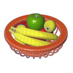 Fruit bowl free Revit model for use in your kitchen design Revit designs.