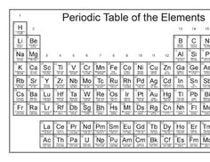 Black and white periodic table of the elements kid stuff free printable periodic table legal size and 2 page lands more urtaz Image collections