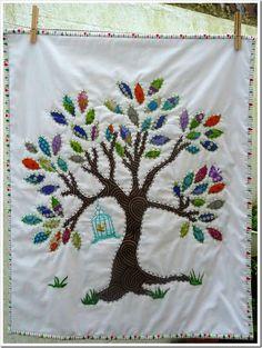 Tree mini quilt