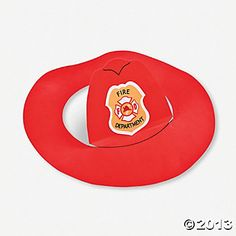 Make a DIY firefighter hat out of paper plates for an easy craft for ...