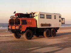 MAN KAT 6x6 overlanding camper truck conversion