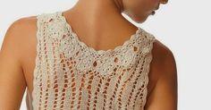 Lindo vestido em crochê... Modelagem de tubinho porém levemente solta ao corpo. Com gráficos sugeridos abaixo...     ...