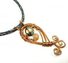 Kumihimo braid and a Nancy Donaldson wire pendant!