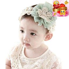 #nursery Package Content: 1PC #Kids Baby Flowers Headband Lace Bow Hair Wear #Hairband Ribbon (Without retail package)