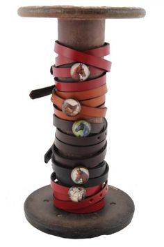 Leather Wrap Bracelet for Vintage Style Rosettes | The American Saddlebred Museum Gift Shop