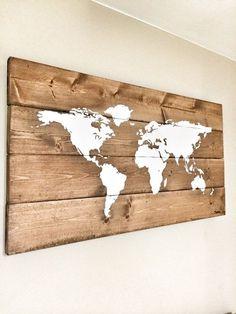 27 Best Wood world map images | Frames, Frases, Little cottages
