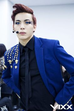 VIXX | Lee HongBin | Those contacts look adorable on him (despite the fact that he is supposed to look scary).