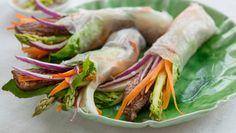 Ferske vårruller med biffkjøtt Fresh Rolls, Cabbage, Appetizers, Meals, Vegetables, Cooking, Ethnic Recipes, Foods, Drinks