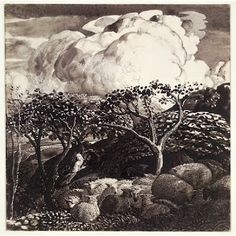 "Samuel Palmer, ""Drawing for 'The Bright Cloud'"" (c. 1831-1832)"