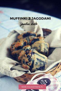 Muffinki z jagodami (paleo, keto) - Paleo Strefa Moniki Piaseckiej