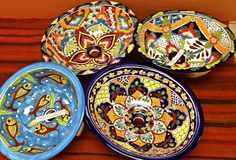 A sampling of our colorful traditional Mexican ceramic sinks! Click on the photo for more ideas.
