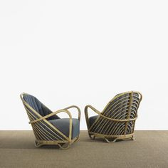298: Arne Jacobsen / Charlottenborg lounge chairs, pair < Scandinavian Design, 18 November 2010 < Auctions | Wright