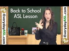 Back to School in ASL (FREE vocabulary, idioms & sentences)