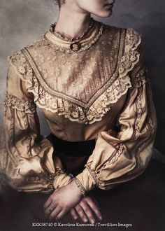 Karolina Kumorek VICTORIAN WOMAN IN LACE BLOUSE Women