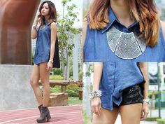 Denim Flow (by Patricia Prieto) http://lookbook.nu/look/3722253-Denim-Flow